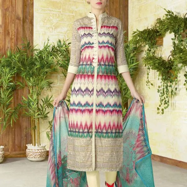 Stunning Multi Color Cotton Lawn Daily Wear Salwar Kameez 1509