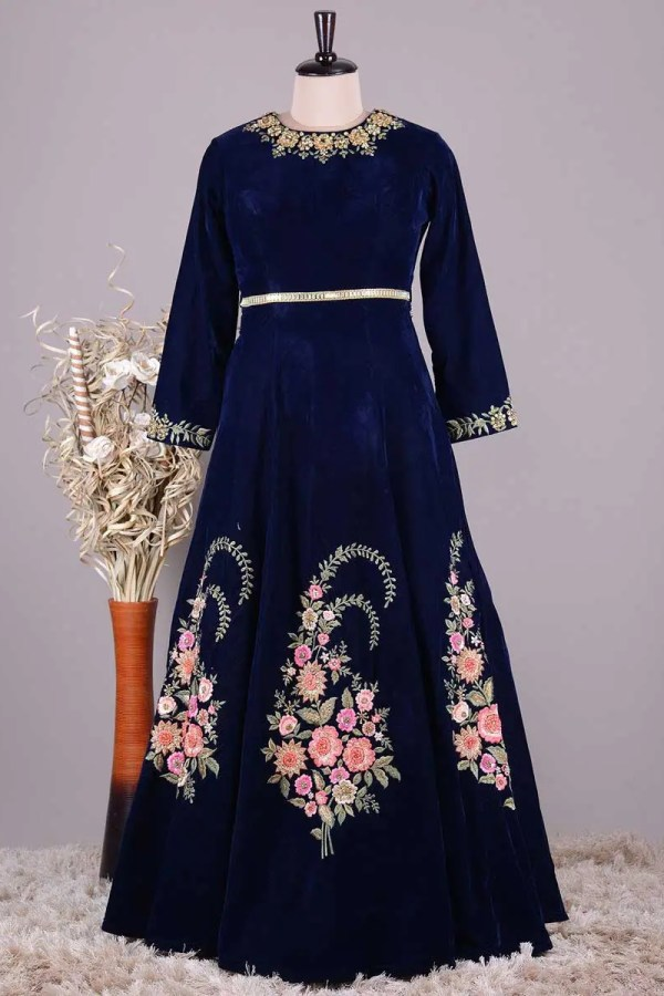 Navy Blue Gown Dress