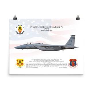 F 15c Eagle Usaf 53fs Bt 84 0003 Desert Storm 1991 Print Gunji Graphics