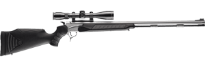 Thompson/Center Encore Pro Hunter centerfire rifle with black Flex synthetic stock and stainless barrel