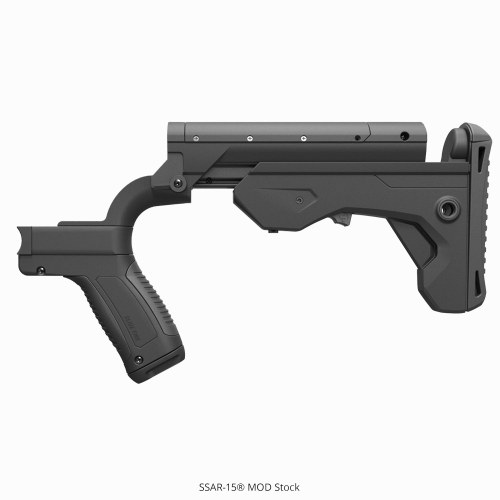 A Slide Fire bump stock.