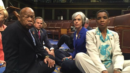 "House Dems had a ""sit-in"" in 2016 to protest against guns."
