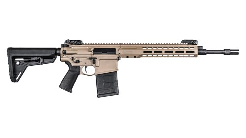Barrett's new REC10 in .308 AR-19-style rifle with flat dark earth finish