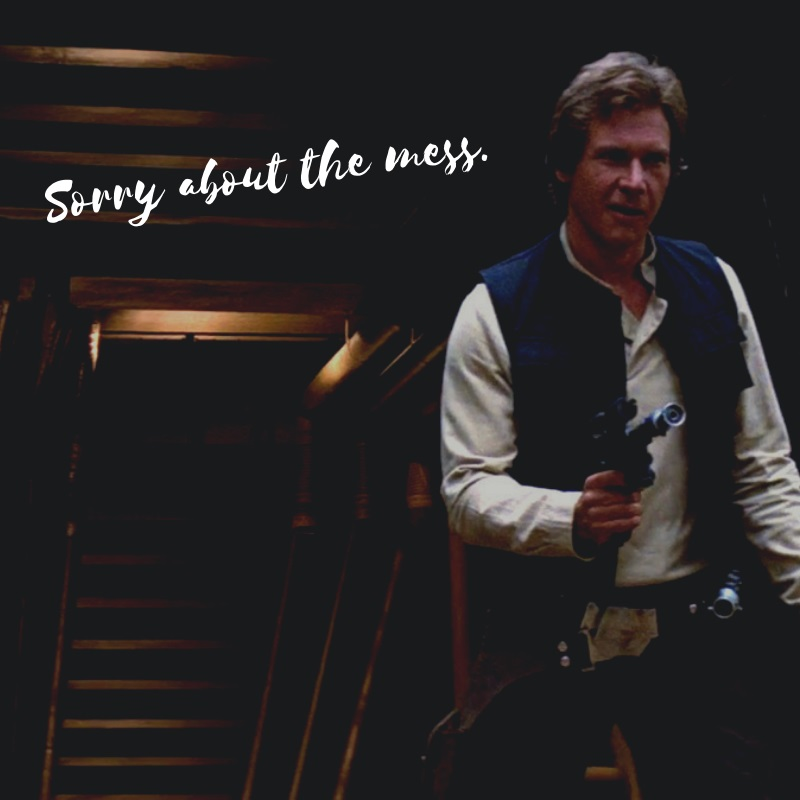 Han Solo's DL-44 blaster is one of the most powerful plasma pistols in the galaxy, able to penetrate Storm Trooper armor.