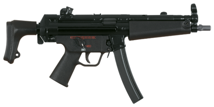 The H&K MP5 is one of the most-used submachine guns in the world.