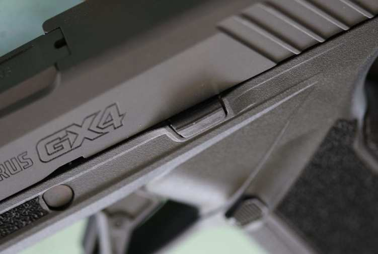 The GX4 slide stop lever.