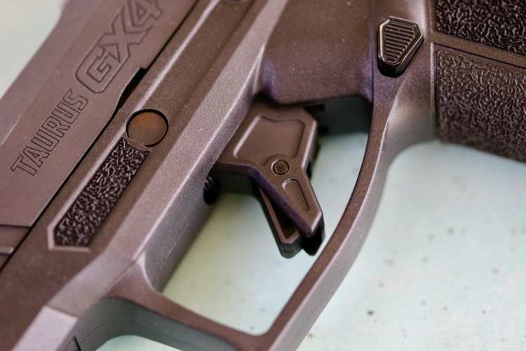 The flat-faced trigger on the GX4.