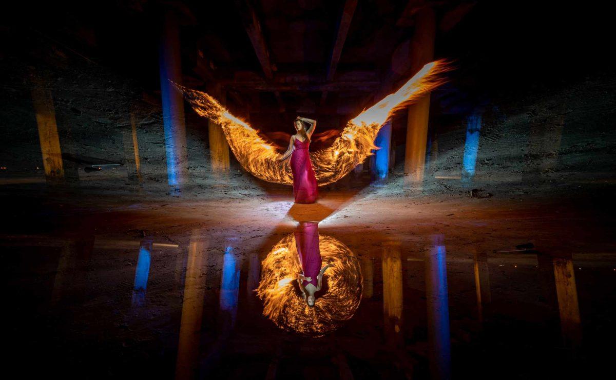 Camera Rotation - Light Painting Photography by Gunnar Heilmann
