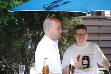 Paul vom Bernstein-Verlag mit Marc, NeueNachricht-Webmaster und IT-Guru