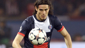 Paris Saint-Germain's Uruguayan forward Edinson Cavani controls the ball during the UEFA Champions League last 16 second-leg football match between Paris Saint Germain and Bayer Leverkusen on March 12, 2014 in Paris. AFP PHOTO / FRANCK FIFE        (Photo credit should read FRANCK FIFE/AFP/Getty Images)