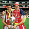 David with Tony Adams Wembley 1987