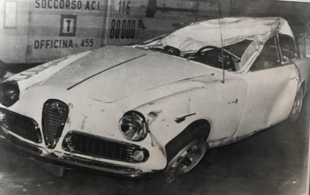 Joe's wrecked sports car