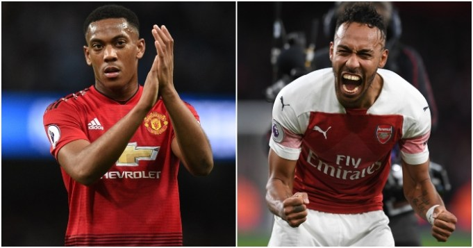 Anthony-Martial-Pierre Emerick-Aubameyang-Arsenal-Manchester-United