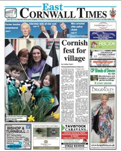 Front Page of the East Cornwall Times