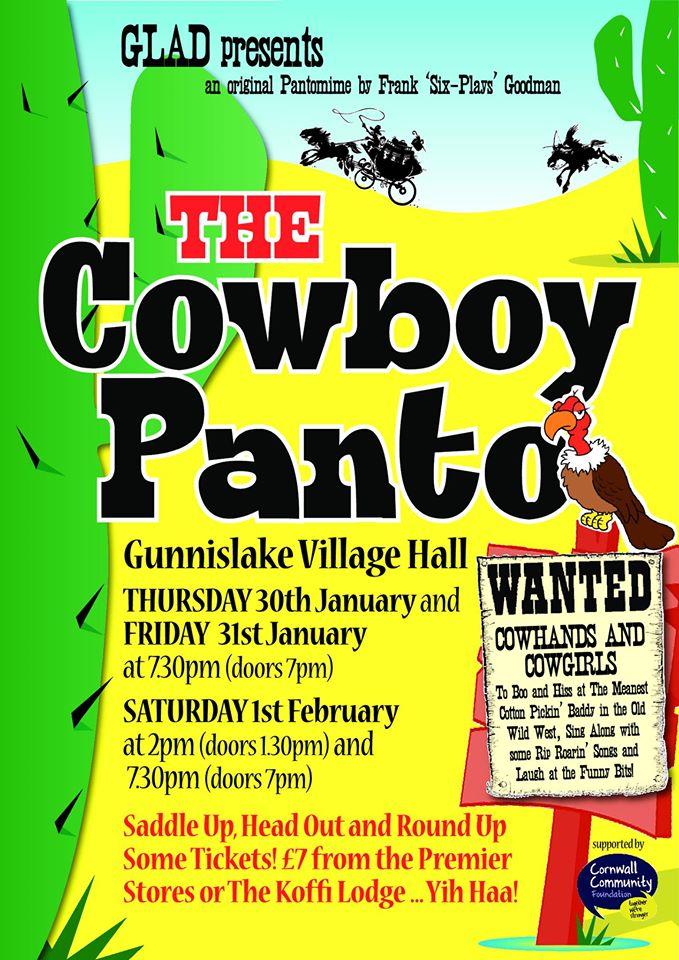Cowboy Panto Poster
