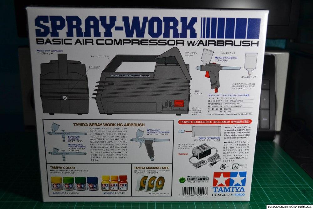 Tamiya Spray-Work Basic Air Compressor w/ Airbrush Review (3/6)