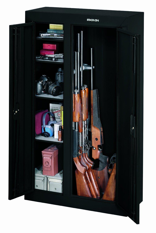 A Marvelous Double Door Gun Cabinet For You  2019  Gun