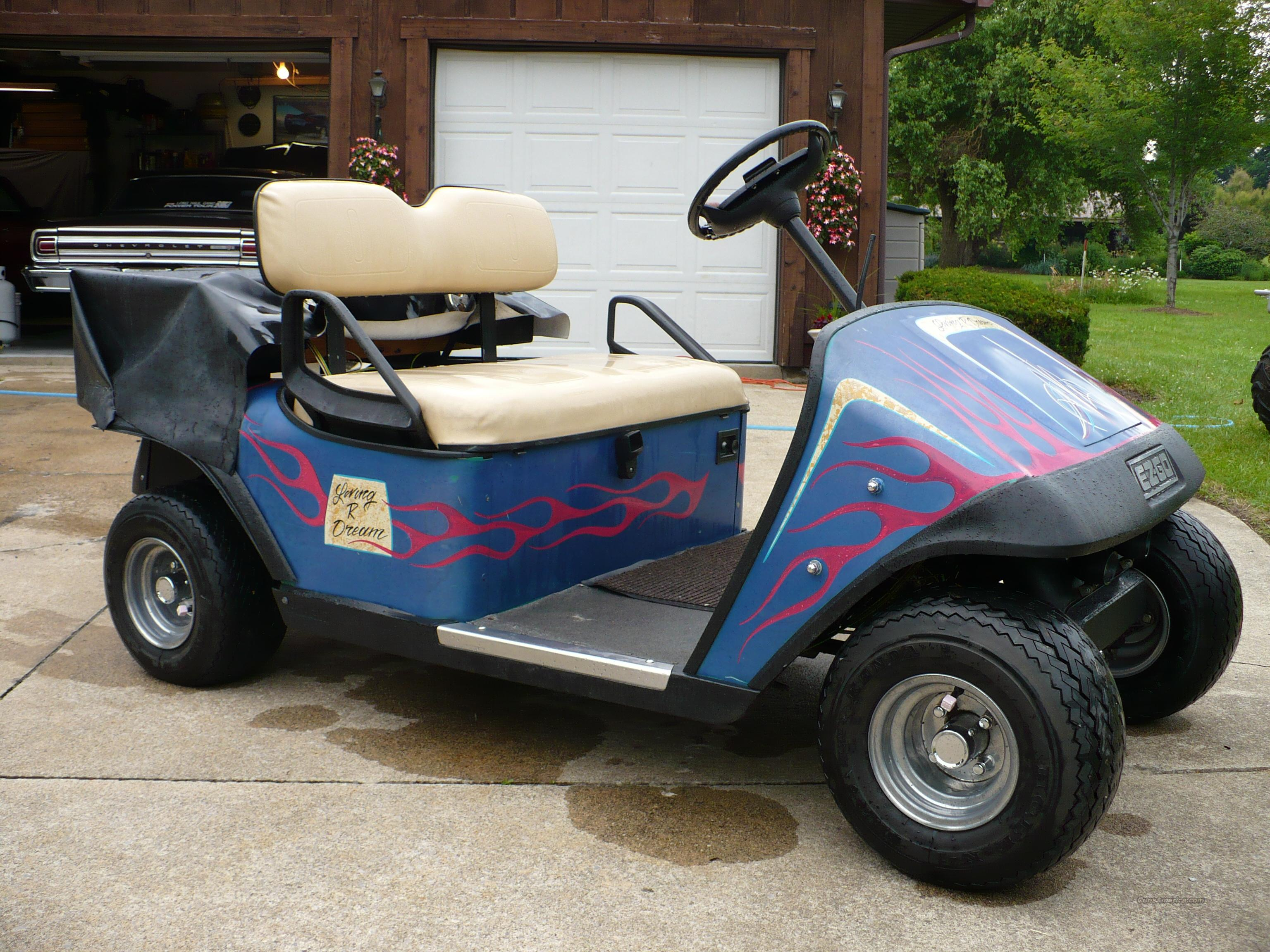 golf cart headlights 2001 jeep grand cherokee pcm wiring diagram gas ezgo with stereo fog lights oooga for sale