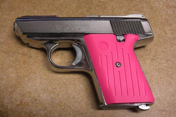 Ca-380 Chrome Withpink Grips