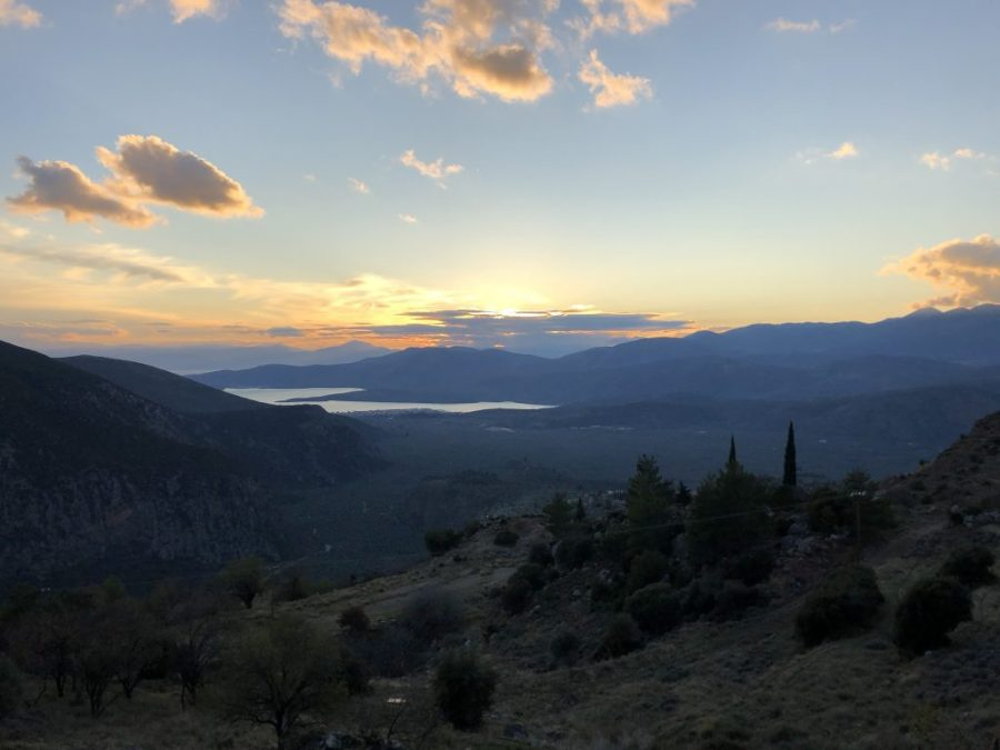 View from Delphi toward Itea and the sea