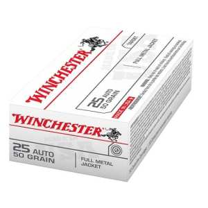 Winchester USA Full Metal Jacket .25 Automatic 50 Grain
