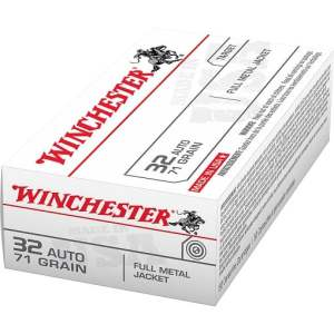 Winchester USA Full Metal Jacket .32 Automatic 71 Grain
