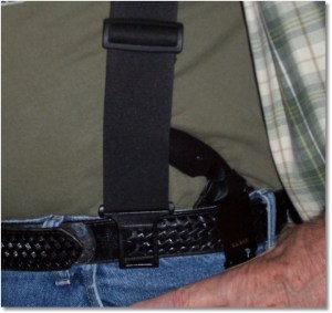 Ka-Bar TDI Worn on the belt in the Reverse Position