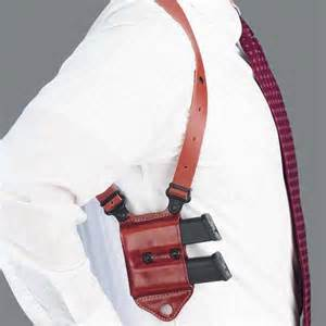 Even Shoulder Holster Ammunition Carriers Are Set Up for Strong Side Carry