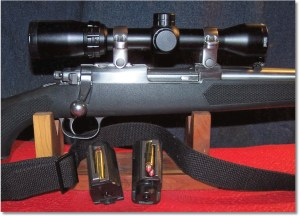 Bushnell Banner Dusk & Dawn Circle-X Reticle Riflescope, 1-4X 32mm Mounted. Ten rounds of Hornady 140-grain FTX at the Ready. Note that the SKS sling works perfect on this carbine
