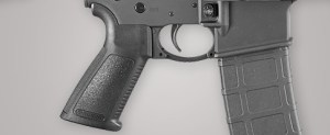 "A ""Beavertail"" Grip Helps In Control. Note the round Trigger Guard - Excellent for Gloved Hands"