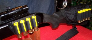 Mossberg 500 20-Gauge. Lasered and Well-Stocked for Defensive Use