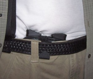 """""""Frnakenmora"""" Tucked Away with Two Spare Glock G43 Magazines. """"Frankenmora"""" is now My Preferred Method of Carrying Spare and Concealed Magazines."""