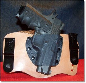 Rock Island Standard Compact Rides Nicely in a Modified CBST Holster (The same holster that I now use for the Ruger SR1911CMD-A)