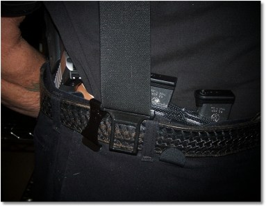 Perry Suspenders Help Support the Load - The Suspenders DO NOT Interfere with drawing the pistol from the holster