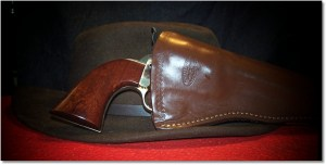 Uberti 1871 Colt Navy Conversion Looking Sweet In a Hunter Slim Jim Cross Draw Holster