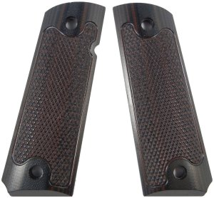 LOK Grips Checkered Classic 1911 Grips Standard Full Size Commander