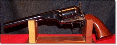 1872 Uberti Army Open-Top Revolver Showing Assembly Wedge and Patent Numbers