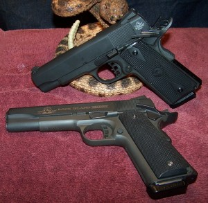 The RIA 1911 MS Standard With His Big Brother the RIA 1911 FS Tactical