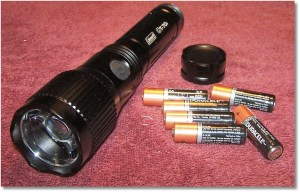 Coleman CT70F Flashlight Powered By Six AA Batteries (Provided)