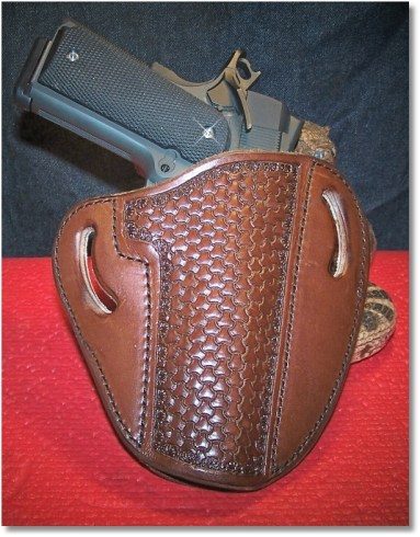 RIA 1911 FS Tactical In a Leather Creek OWB Holster