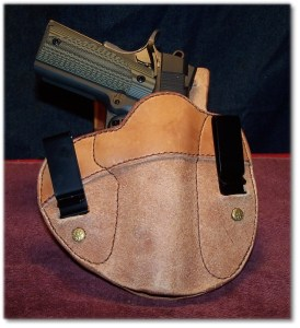 """Tucked n' Tite in a """"Cumberland"""" IWB Holster from Simply Rugger Holsters"""
