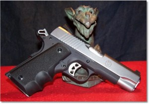 Hogue Wraparound Rubber Grips with Finger Grooves 1911 Colt .45 9mm #C45-000 on the Ruger Sr1911CMD-A