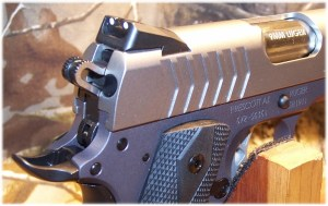 Dovetailed, 3-dot sight system features a Novak® LoMount Carry rear and standard front sight