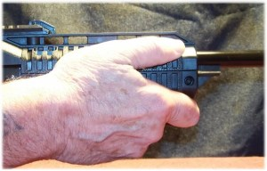 Long Grip (Note Finger Over Front Lip of the AFG-2)