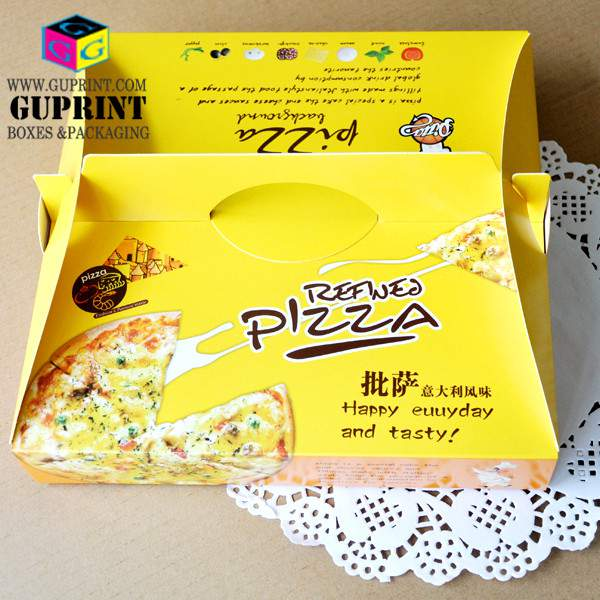 custom quality offset printing paper take out food box light pizza