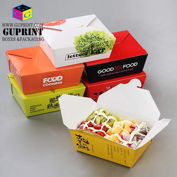 unique lunch takeout food box print paper food containers