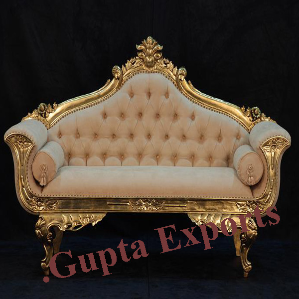 wedding sofa ricardo cognac and chairs in punjab golden elegant couple
