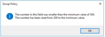 FSLogix SizeinMBs Setting Error