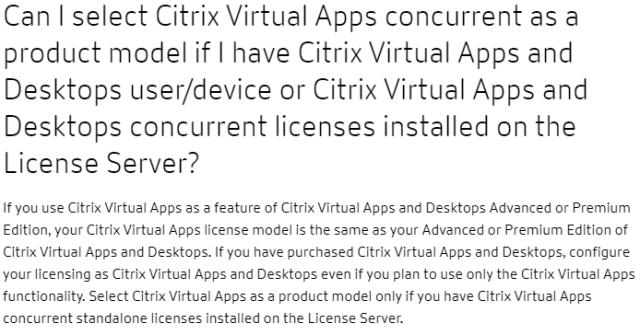 Virtual Apps and Desktops Licensing FAQ