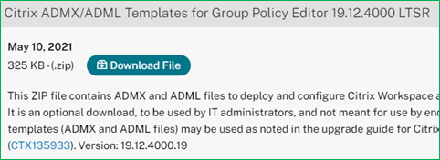 Citrix Workspace app ltsr admx adml files